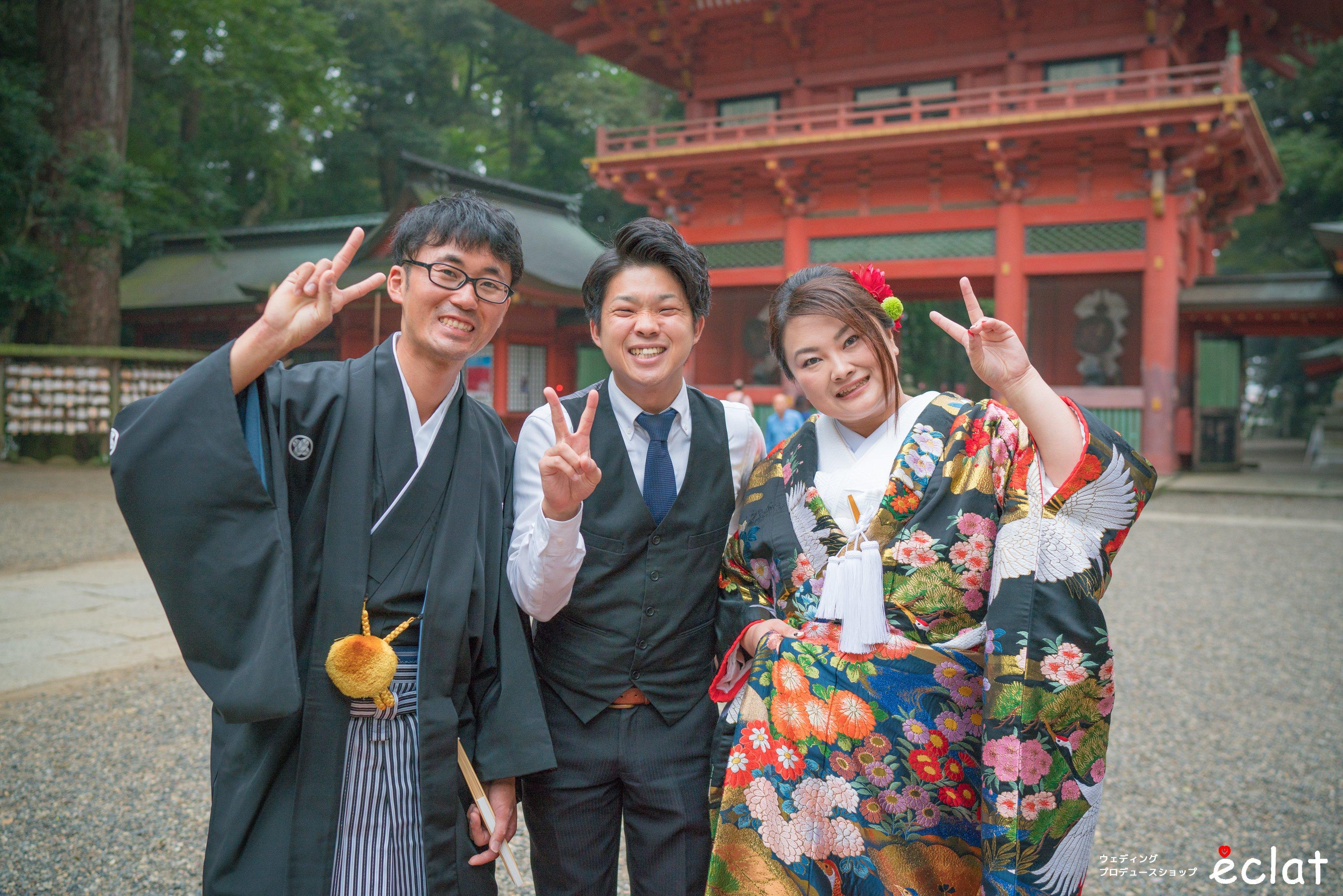 鹿島神宮 神社挙式 結婚式 ウエディングプロデュースショップ エクラ eclat