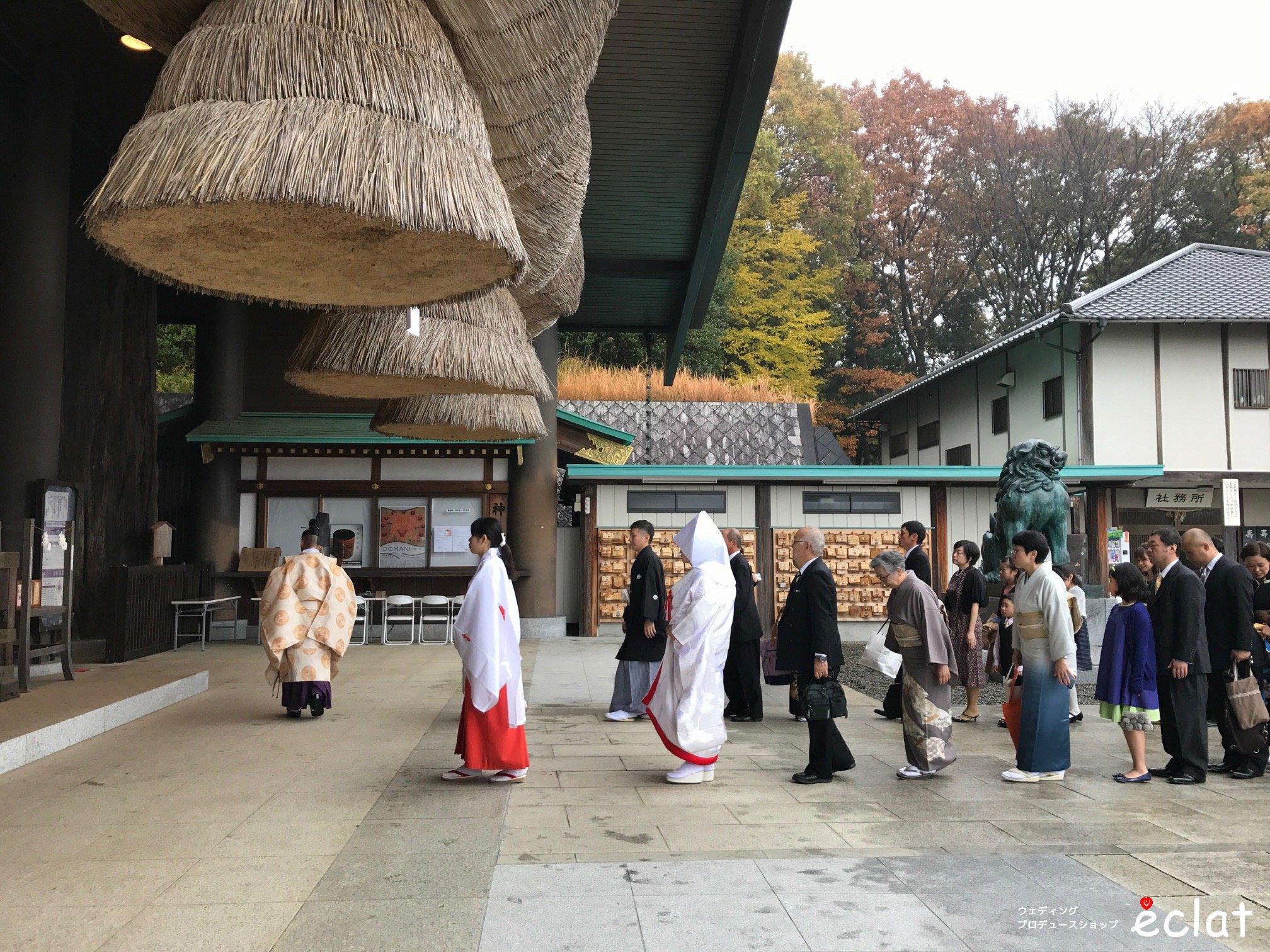 常陸国出雲大社 神社挙式 桜林館 茨城 水戸 神前式 和婚