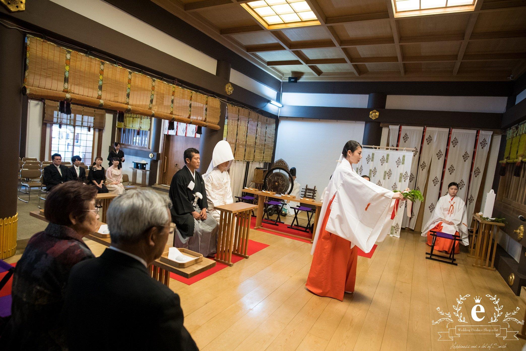 茨城-水戸-つくば-神社挙式-神前式-会食-披露宴-結婚式-常磐神社-とう粋庵-家族婚-エクラ
