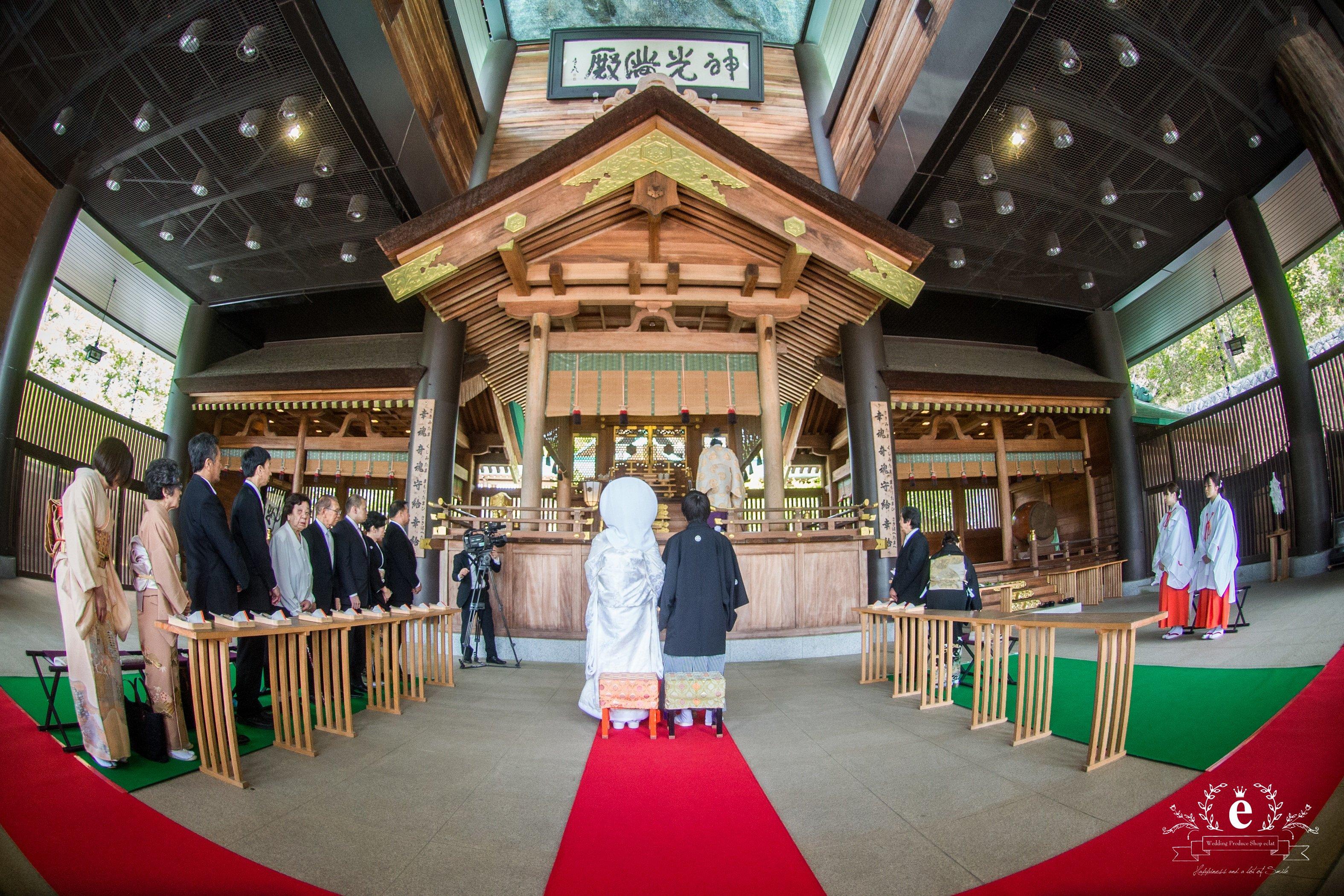 茨城 水戸 結婚 ウェディング 神社挙式 常陸国出雲大社 笠間 会食 親族のみ 家族婚 プロデュース会社 エクラ
