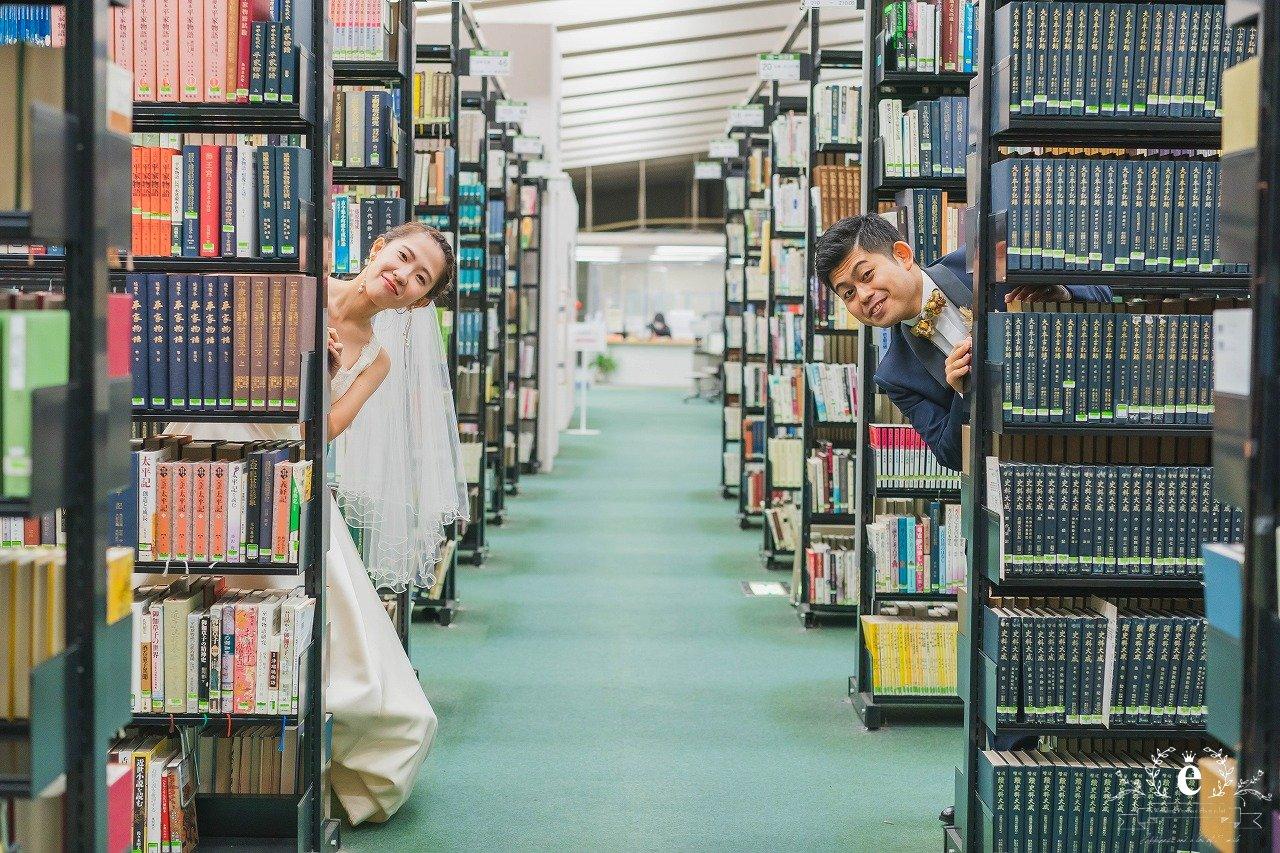 東京-大学-母校-フォトウェディング-フォト婚-前撮り-思い出-出会い-場所-地元-学び舎-講堂-図書館-ロケ-水戸-エクラ