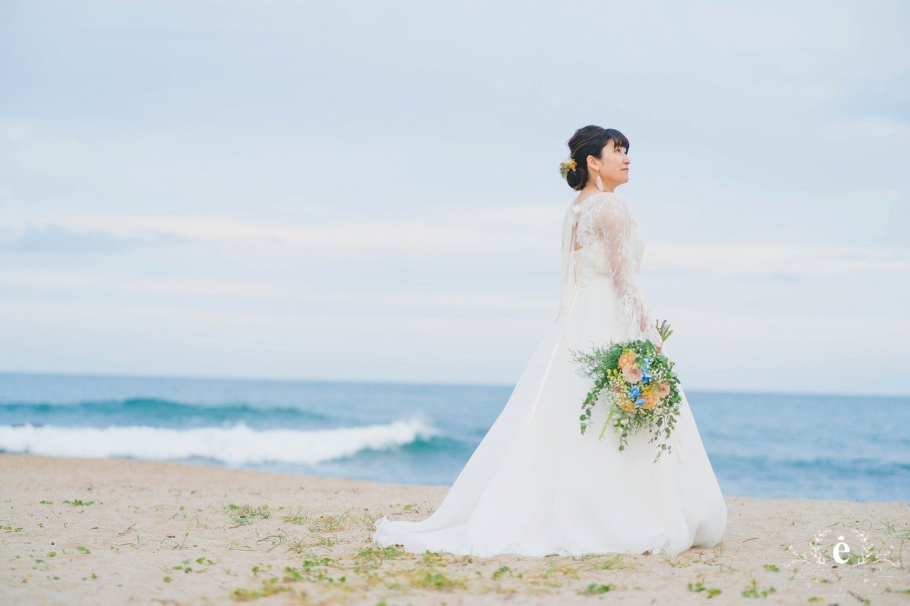 日立 うのしまヴィラ 海 結婚式 家族婚 浜辺 ビーチ 挙式 コロナ禍 少人数 宿泊 旅 カフェ 水戸 エクラ