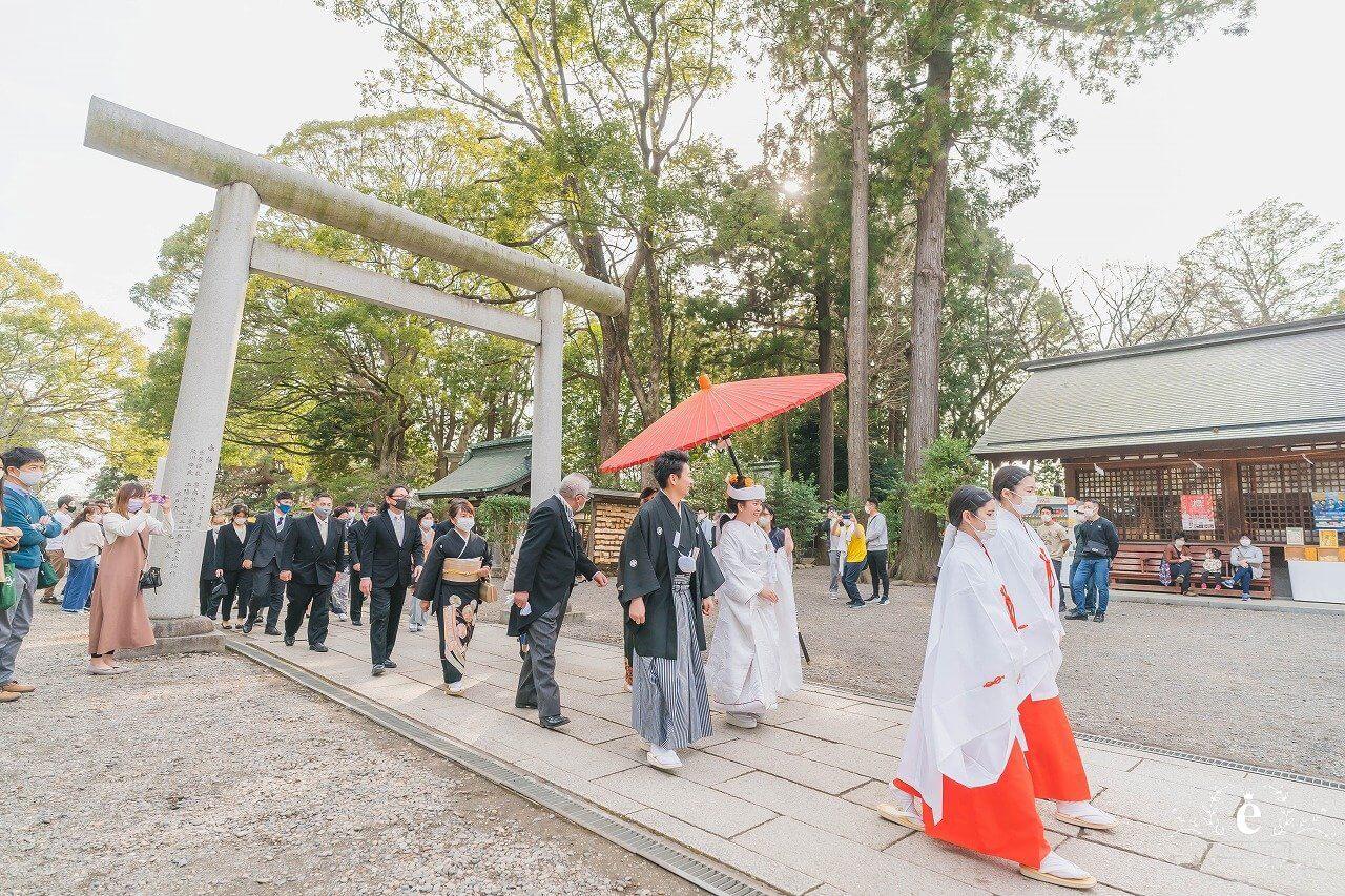 水戸 常磐神社 偕楽園 梅 結婚式 神社挙式 前撮り フォトウェディング フォト婚 家族婚 少人数 コロナ禍 エクラ