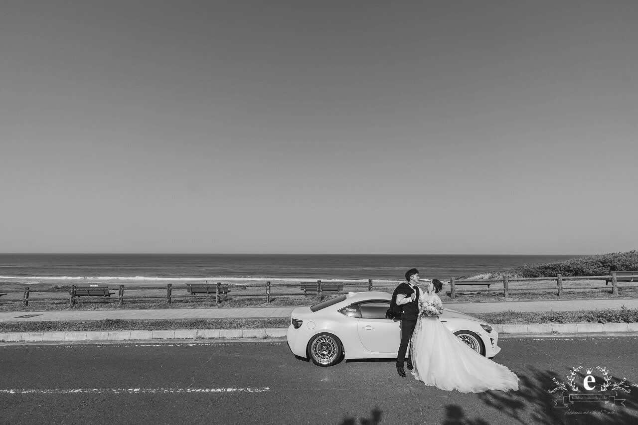 鹿島灘海浜公園 前撮り フォトウェディング 水戸 鉾田 写真 車 自動車 愛車 趣味 フォト婚 コロナ禍 水戸 茨城 結婚 結婚式 ウェディング スタジオエクラ 水戸エクラ